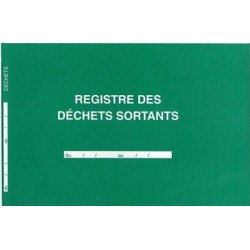REGISTRE DES DECHETS SORTANTS 210X297 96P