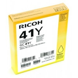 CART ENCRE GEL RICOH GC41K SG2100N3110DN3110DNW JAUNE 600 PAGES