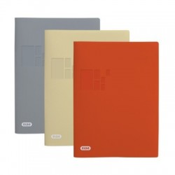 PROTEGE DOCUMENTS ELBBUS A4 20 VUES ASS x10 GRIS ORANGE BEIGE POLYPRO 300µ