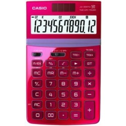 CALCULATRICE BUREAU 12 CH COULEUR BORDEAUX BRILLANT JW200TW