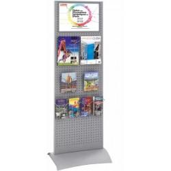 Totem expo présentoir de catalogues avec portebrochures 165 x 50 cm