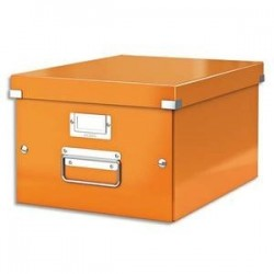 Boîte CLICK&STORE MBox. Format A4 Dimensions : L281xH200xP369mm. Coloris orange Wow.