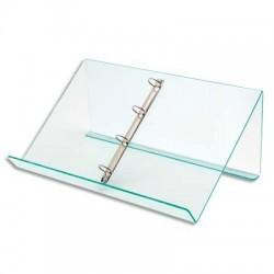 Pupitre de table avec anneaux amovibles Dimensions : L50 x H11,5 x P3,5 cm transparent