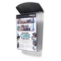Boîte pour extérieur incassable avec protection UV format A4 L25 x H33,5 x P10 cm transparent