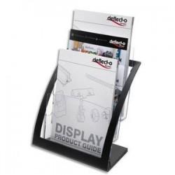Portebrochures 3 compart. A4 Contemporary + porte cartes A4 L28,9xH34,9xP15,6 cm transparent
