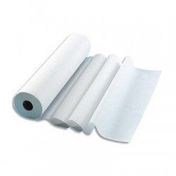 Lot de 12 Rouleaux Draps dexamen 2 plis 135 formats 34 x 50 cm L45,9 m, bobine D10,5 cm blanc