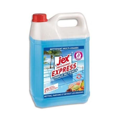 Express Bidon de 5L Nettoyant multiusages triple action plus parfum Jardin exotique