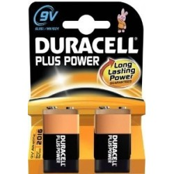 PILE ALCALINE DURACELL 9VX2 PLUS POWER 6LR61
