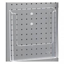 Portebrochure plastique A4 + clips pour TOR216625