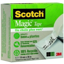 ADHESIF SCOTCH MAGIC VERT RECYCLE 810 19MMx30M L1187