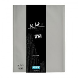 PROTEGE DOCUMENTS PVC LE LUTIN URBAN 40 VUES GRIS METAL ELBA 400045982