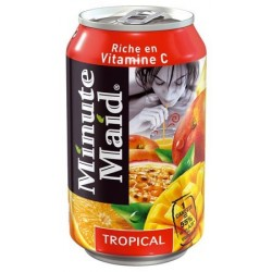 JUS MINUTE MAID TROPICAL BTE 33CL PACK 24 CANETTES