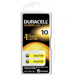 PILE AUDITIVE DURACELL EASY TAB 10 BOITIER 6 PILES