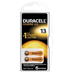 PILE AUDITIVE DURACELL EASY TAB 13 BOITIER 6 PILES