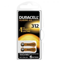 PILE AUDITIVE DURACELL EASY TAB 312 BOITIER 6 PILES