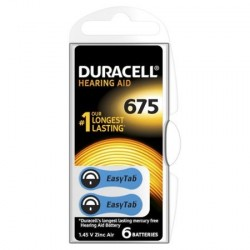 PILES AUDITIVES DURACELL EASY TAB 675 BLISTER/6