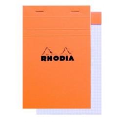 BLOC DE DIRECTION EXTRA BLANC SANS AGRAFES AU DOS RHODIA 5x5 80G 11x17