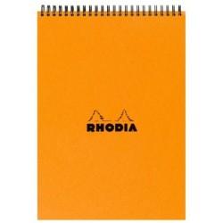 BLOC DE DIRECTION EXTRA BLANC SANS AGRAFES RHODIA A4 SPIRALE 5x5