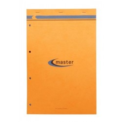 BLOC NOTES MASTER A4+ 21x31,5 70G 5x5 PETITS CARREAUX PERFORÉ 4 TROUS