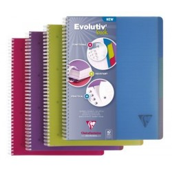 CAHIER EVOLUTIV'BOOK A4+ 22,5x29,7 5x5 Petits carreaux 240 PAGES POLYPRO SPIRALE