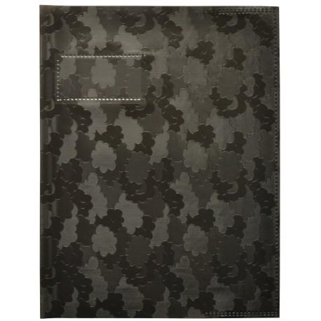 PROTEGECAHIER 17X22 SANS RABATS PVC 9100 OPAQUE NOIR X 25