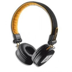CASQUE AUDIO FILAIRE FYBER NOIR ORANGE