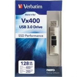 CLÉ USB SSD VX400 USB 3.0 128Go VERBATIM