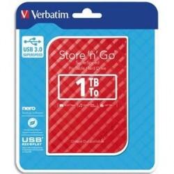 DISQUE DUR EXTERNE VERBATIM USB 3.0 STYLE N GO 2.5pouces 1To ROUGE