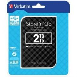 DISQUE DUR EXTERNE VERBATIM USB 3.0 STYLE N GO 2.5pouces 2To NOIR