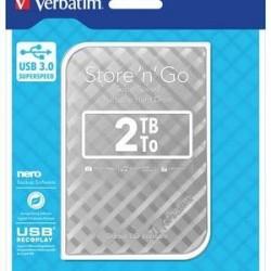 DISQUE DUR EXTERNE VERBATIM USB 3.0 STYLE N GO 2.5pouces 2To GRIS
