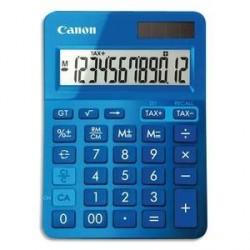 CALCULATRICE DE BUREAU CANON LS-123K-MPP BLEUE 12 CHIFFRES
