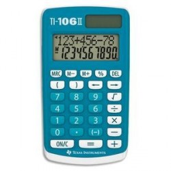 CALCULATRICE PRIMAIRE TEXAS INTRUMENT TI-106 II BLEUE