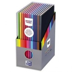 LOT DE 12 CARNETS OXFORD POCKETNOTE 9x14cm 48 Pages Ligné 6 Assortis