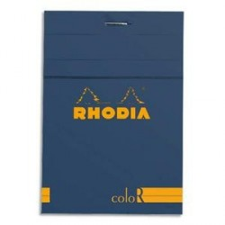 BLOC DE BUREAU RHODIA COLOR 85x120 140 pages LIGNÉ SAPHIR