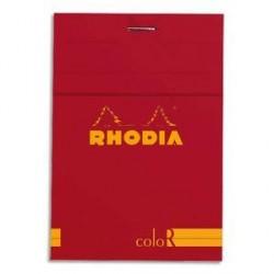 BLOC DE BUREAU RHODIA COLOR 85x120 140 pages LIGNÉ COQUELICOT