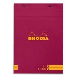 BLOC DE BUREAU RHODIA COLOR A5 140 pages LIGNÉ FRAMBOISE