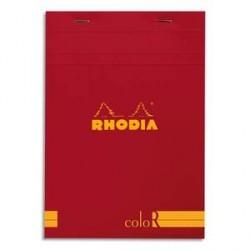 BLOC DE BUREAU RHODIA COLOR A5 140 pages LIGNÉ COQUELICOT