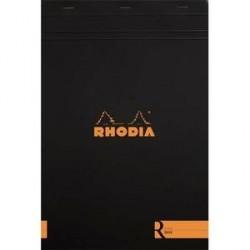 BLOC DE BUREAU RHODIA COLOR A4+ 140 pages LIGNÉ NOIR