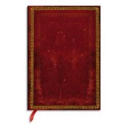 CARNET A L ANCIENNE ROUGE VENITIEN 12x17c 144 pages LIGNÉ