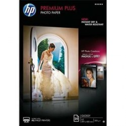 PAPIER PHOTO HP PREMIUM PLUS J.E A3 300g BRILLANT CR675A B/20