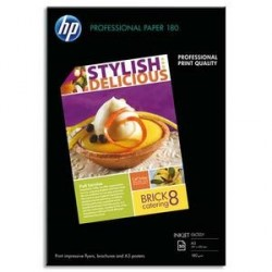 PAPIER PHOTO HP PROFESSIONNEL J.E A3 BRILLANT 180g C6821A P/50