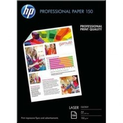 PAPIER PHOTO HP PROFESSIONNEL LASER BRILLANT A4 150g CG965A P/150