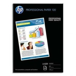 PAPIER PHOTO HP PROFESSIONNEL LASER BRILLANT A4 120g CG964A P/250