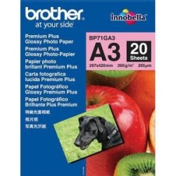 PAPIER PHOTO BROTHER J.E BRILLANT 260g A3 BP71GA3 P/20