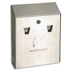 CENDRIER MURAL ACIER INOX 25.4x31.8x7.6cm