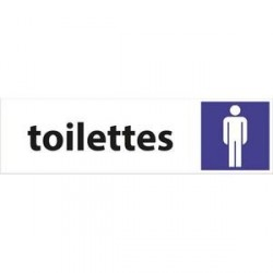 PLAQUE SIGNALISATION TOILETTES HOMMES