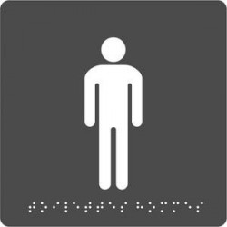PLAQUE SIGNALISATION BRAILLE TOILETTES HOMMES