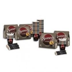 DOSETTES SENSEO BOX REASSORT dosettes + sucre + agitateurs + gobelets