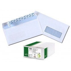 ENVELOPPES 110x220 75G FENÊTRE 35 BTE 500 BLANCHES AUTO-ADHESIVES GPV