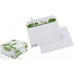 ENVELOPPES 162x229 80G BOITE 500 BLANCHES AUTOADHESIVE RECYCLE